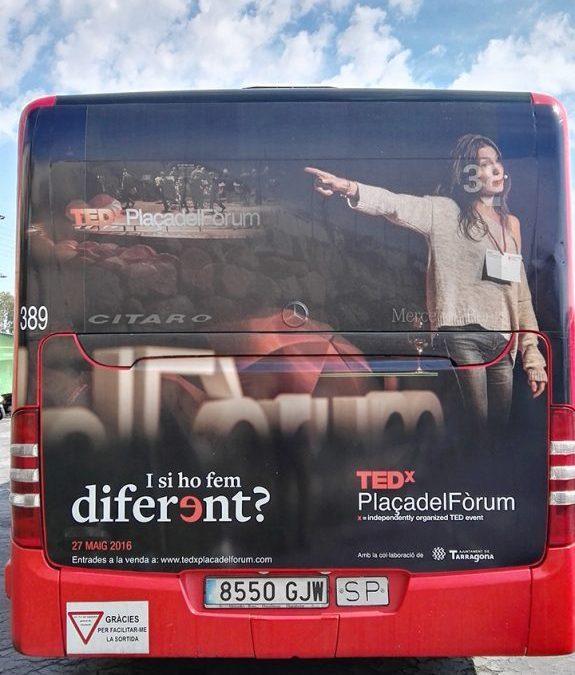 Ja circula l'autobús TEDxPlaçadelFòrum!